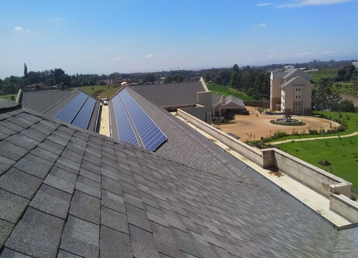 Roofing shingles projects: Brookhouse Runda Kenya Havard slate
