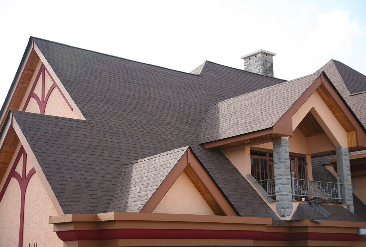Residential projects: Roofing shingles Kenya Autumn Brown