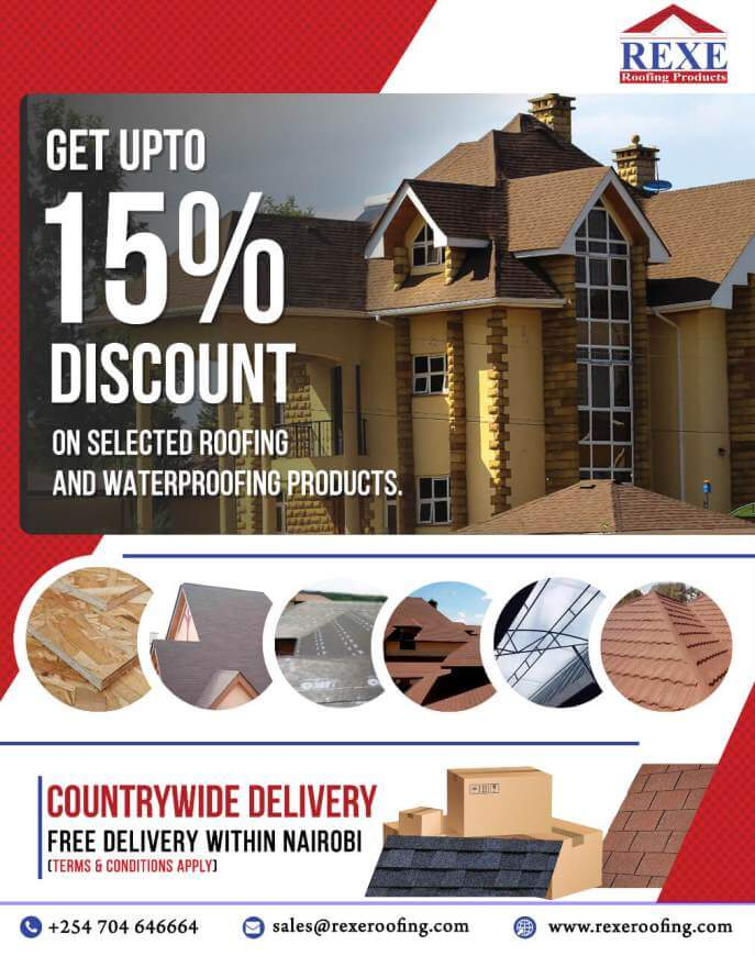 Roofing products special discount